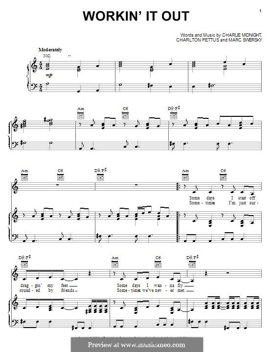 Workin' It Out (Hilary Duff): Для голоса и фортепиано (или гитары) by Charlie Midnight, Charlton Pettus, Marc Swersky