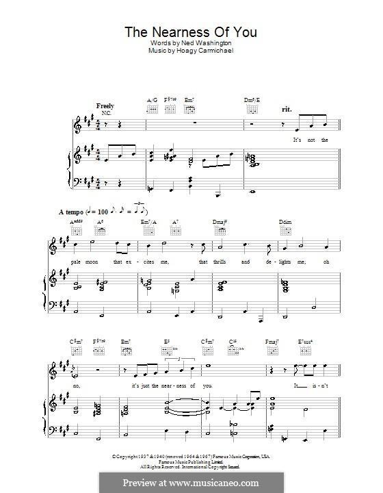 The Nearness of You: Для голоса и фортепиано или гитары (Rod Stewart) by Hoagy Carmichael