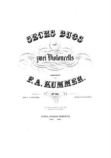 Шесть дуэтов для двух виолончелей, Op.156: Шесть дуэтов для двух виолончелей by Фридрих Август Куммер