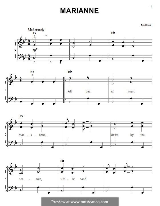 Marianne: Для фортепиано (легкий уровень) by folklore