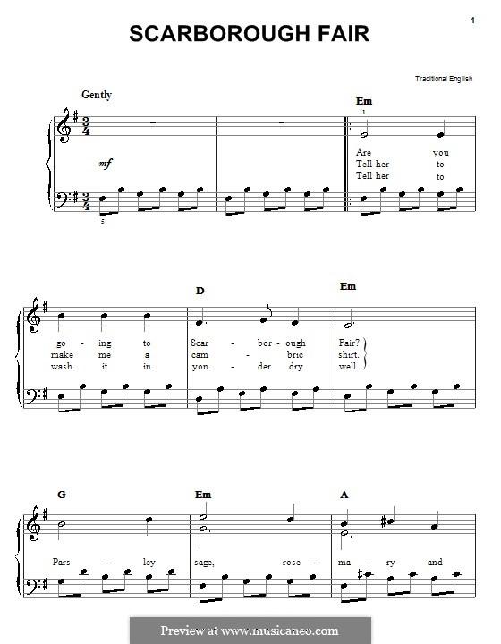 Scarborough Fair: Для фортепиано by folklore