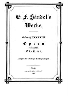 Джустино, HWV 37: Джустино by Георг Фридрих Гендель