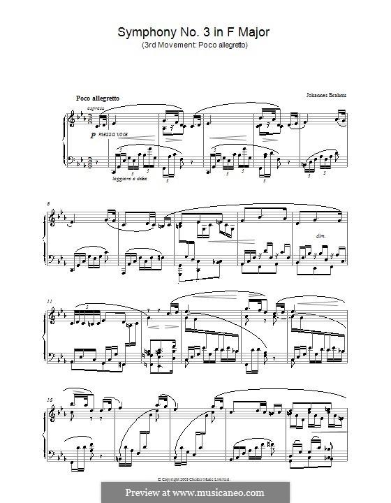 Часть III: Версия для фортепиано by Иоганнес Брамс