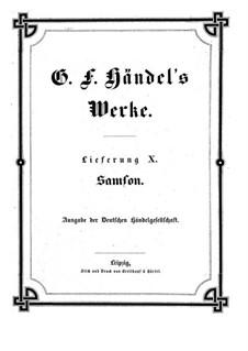 Самсон, HWV 57: Партитура by Георг Фридрих Гендель