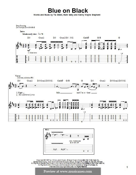 Blue on Black: Для гитары с табулатурой by Mark Selby, Tia Sillers