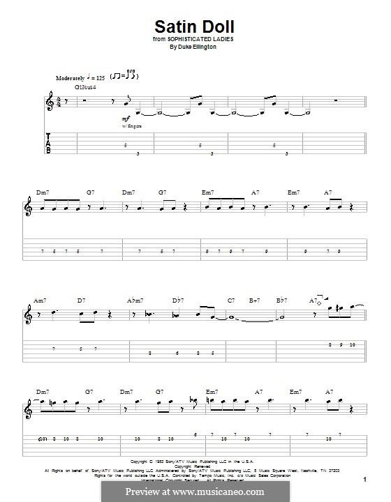 Satin Doll: Гитарная табулатура by Billy Strayhorn, Duke Ellington
