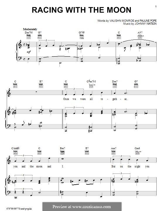 Racing with the Moon: Для голоса и фортепиано (или гитары) by Johnny Watson