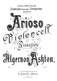 Ариозо для виолончели и фортепиано, Op.43: Ариозо для виолончели и фортепиано by Алджернон Эштон