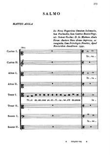 Псалом для голосов: Псалом для голосов by Джамматео Азола