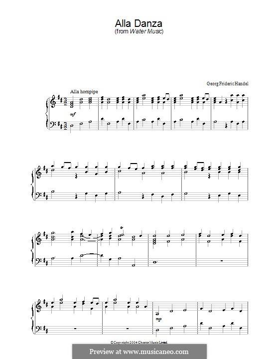 Сюита No.2 ре мажор, HWV 349: Alla Hornpipe, for piano by Георг Фридрих Гендель
