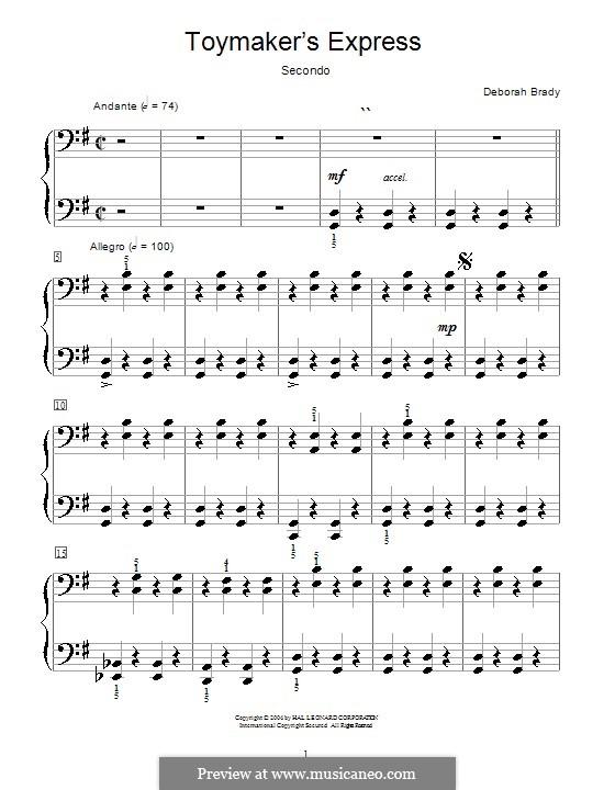 Toymaker's Express: Для фортепиано by Deborah Brady