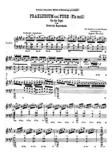 Прелюдия для органа фа-диез минор, BuxWV 146: Версия для фортепиано by Дитрих Букстехуде