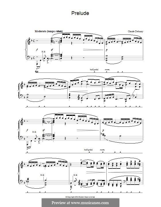 Прелюдия: Для фортепиано by Клод Дебюсси