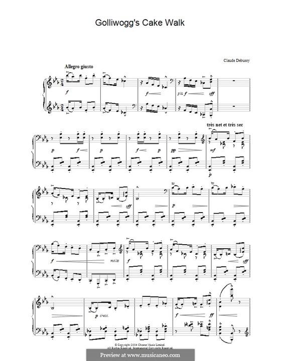 No.6 Кукольный Кэк-уок: Для фортепиано (ноты высокого качества) by Клод Дебюсси