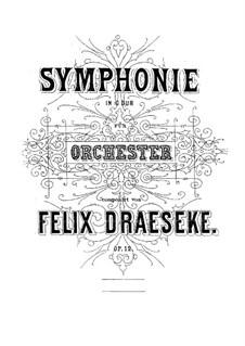 Симфония No.1 соль мажор, Op.12: Партитура by Феликс Дрезеке