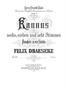 Восемнадцать канонов для фортепиано в четыре руки, Op.37: Восемнадцать канонов для фортепиано в четыре руки by Феликс Дрезеке