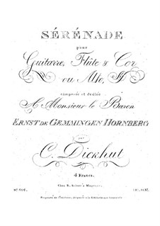 Серенада для гитары, флейты и валторны (или альта): Серенада для гитары, флейты и валторны (или альта) by Кристиан Дикхут